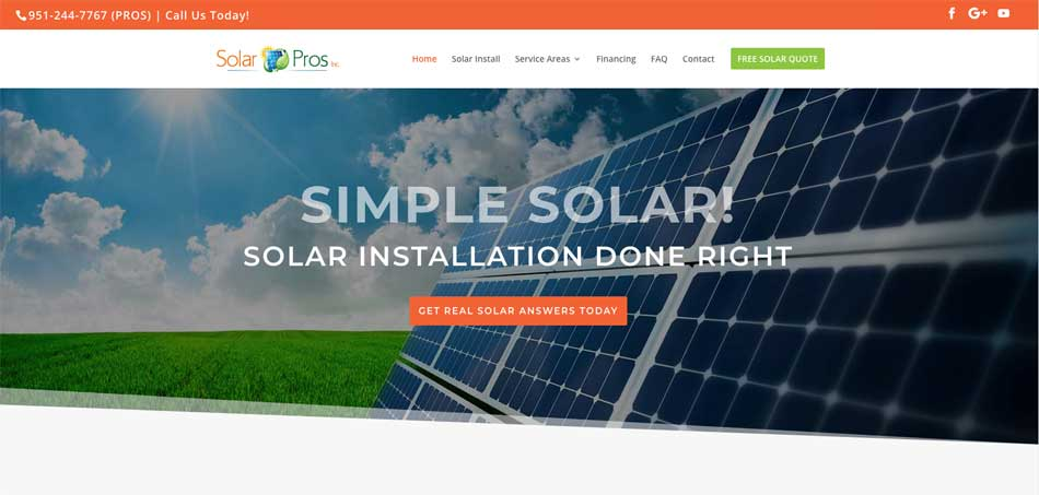 New Solar Pros Website Launch